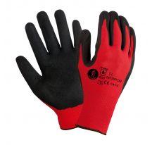 Guante NITRIPORT nitrilo microporoso negro con soporte nylón rojo seguridad 4.1.2.1