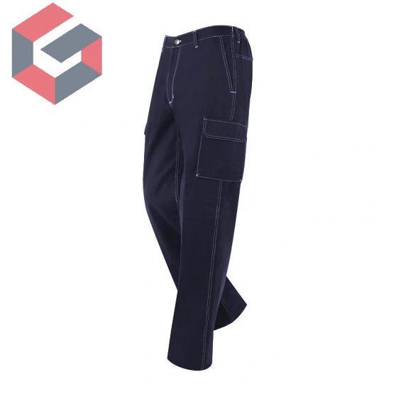 Pantalón marino multibolsillos con refuerzos Monza R.1133100% algodón