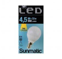 Bombilla LED Miniglobe modelo SULG-4.514WW de 5,4W Luz cálida.